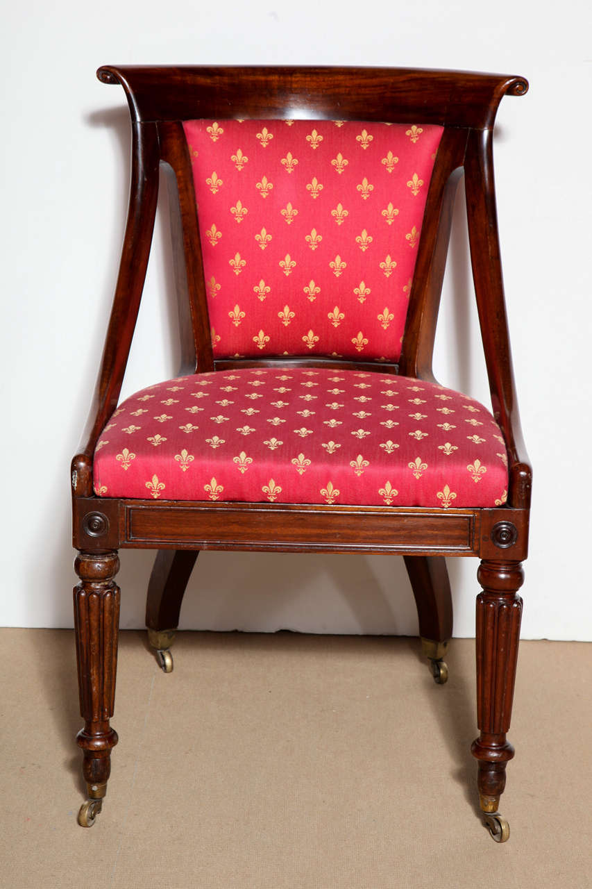19th Century English, Slip Seat Side Chair