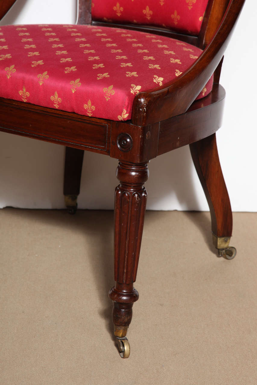 19th Century English Side Chair In Good Condition For Sale In New York, NY