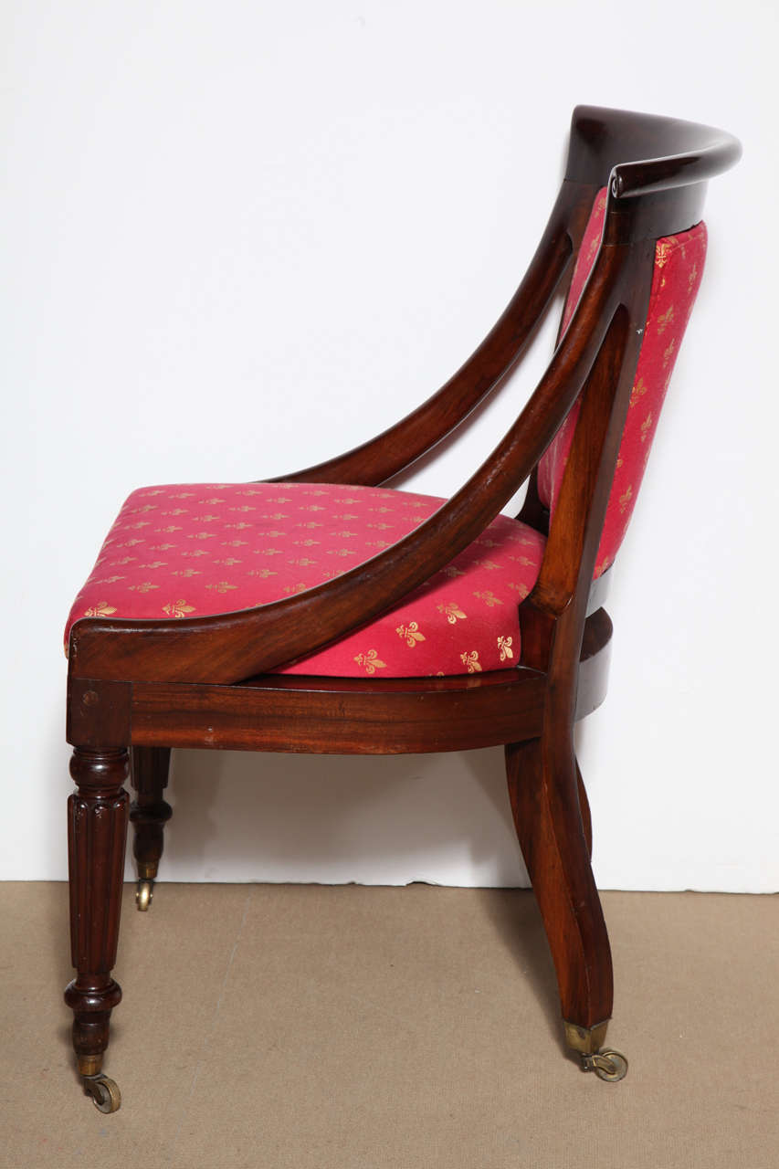 Mahogany 19th Century English Side Chair For Sale