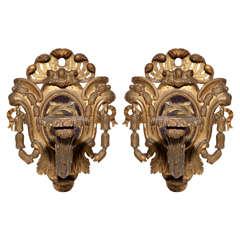 Pair of Late 18th Century Italian Brackets