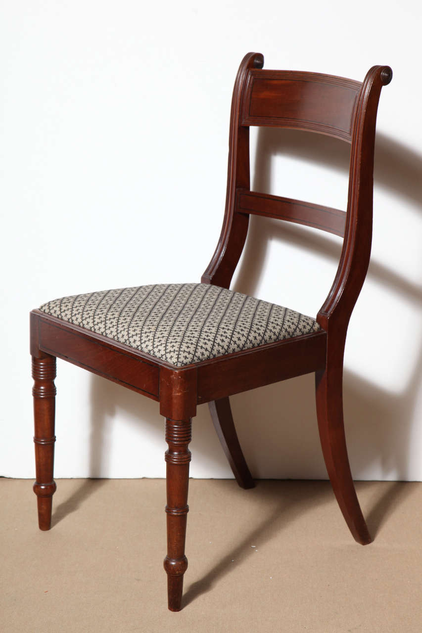 Set of Eight English Regency Dining Chairs For Sale 2
