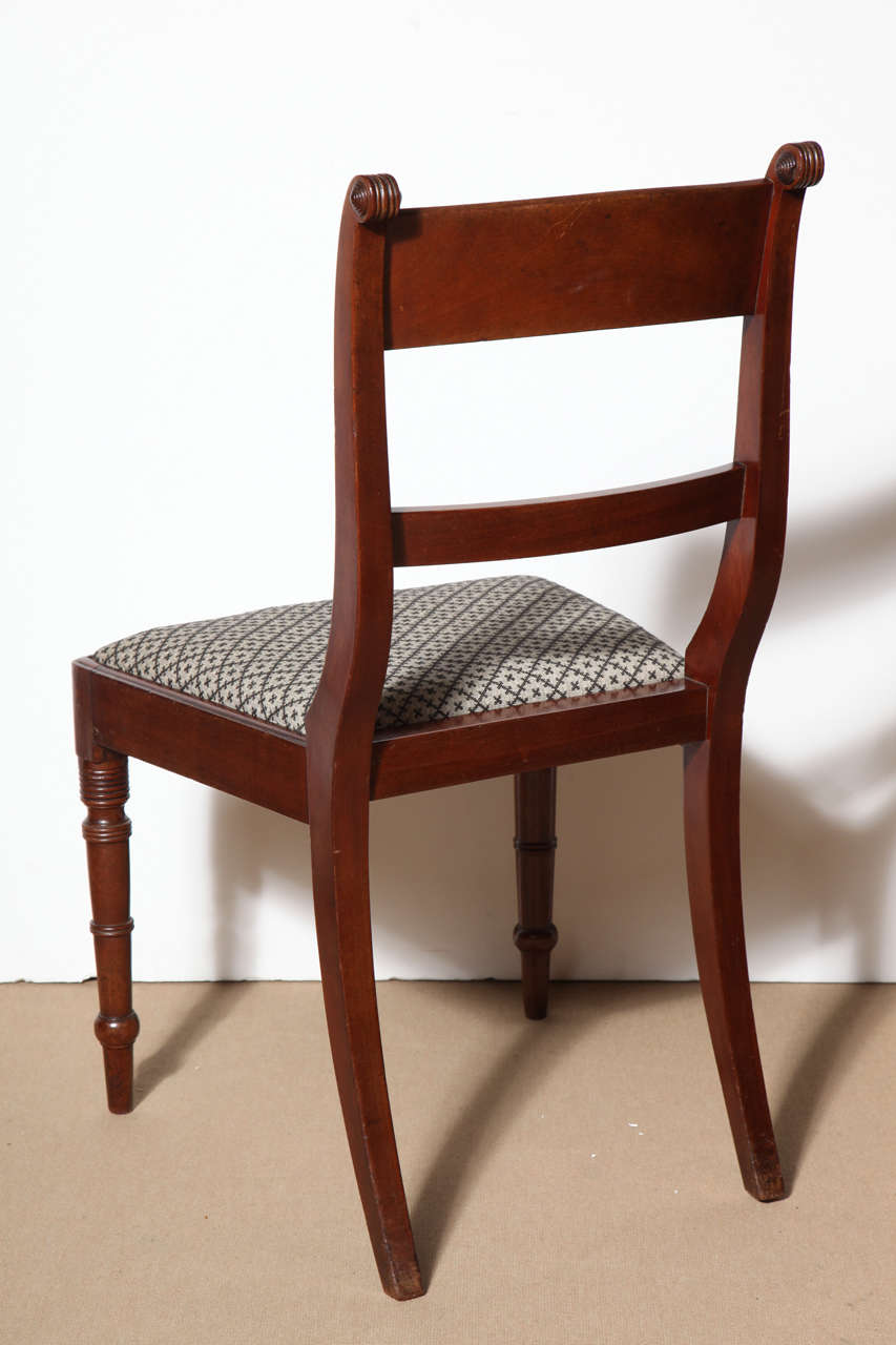 Set of Eight English Regency Dining Chairs For Sale 3