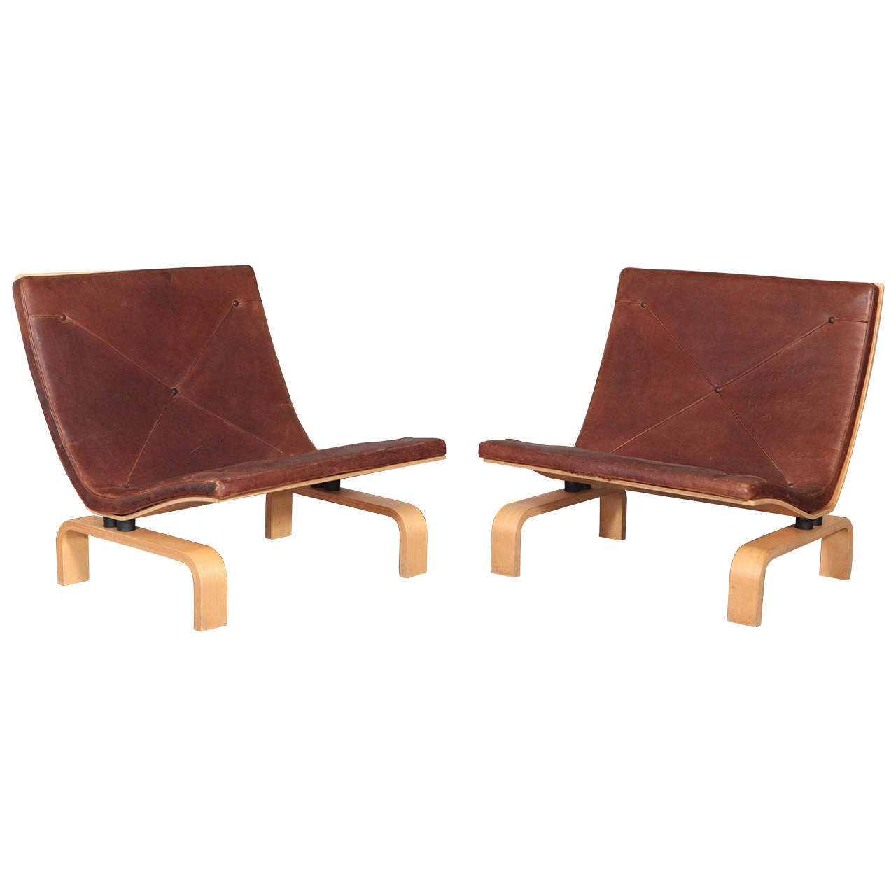 Pair of Poul Kjærholm PK 27 Easy Chairs For Sale
