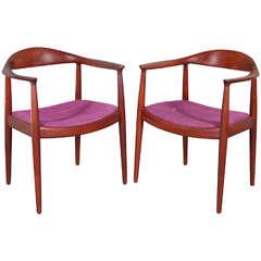 Hans Wegner Pair of 'The Chairs'