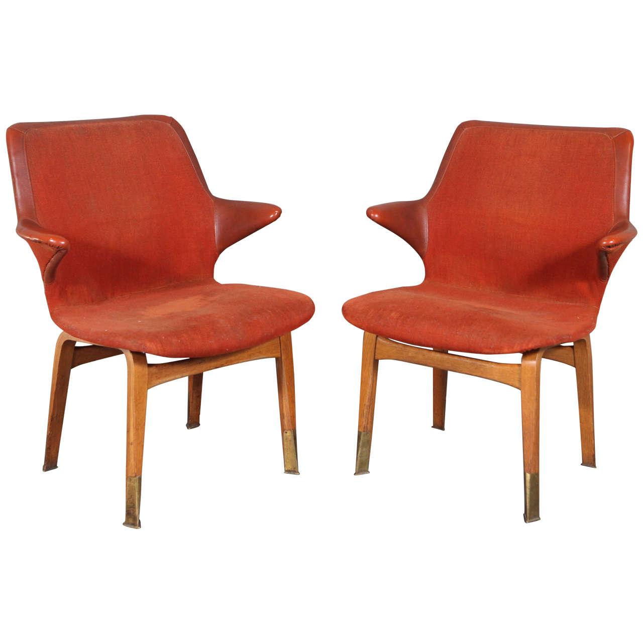 Pair of Ilmari Tapiovaara 'Lulu' Chairs