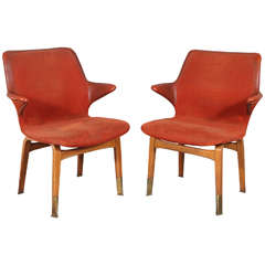 Pair of Ilmari Tapiovaara 'Lulu' Chairs