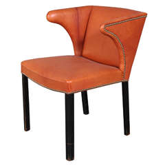 Frits Henningsen Chair in Niger leather, 1930s