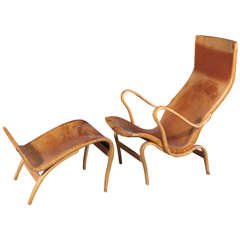 Bruno Mathsson Chair & Footstool