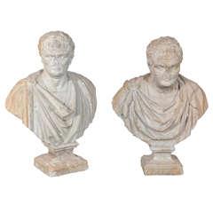 Busts of Caligula and Tiberius