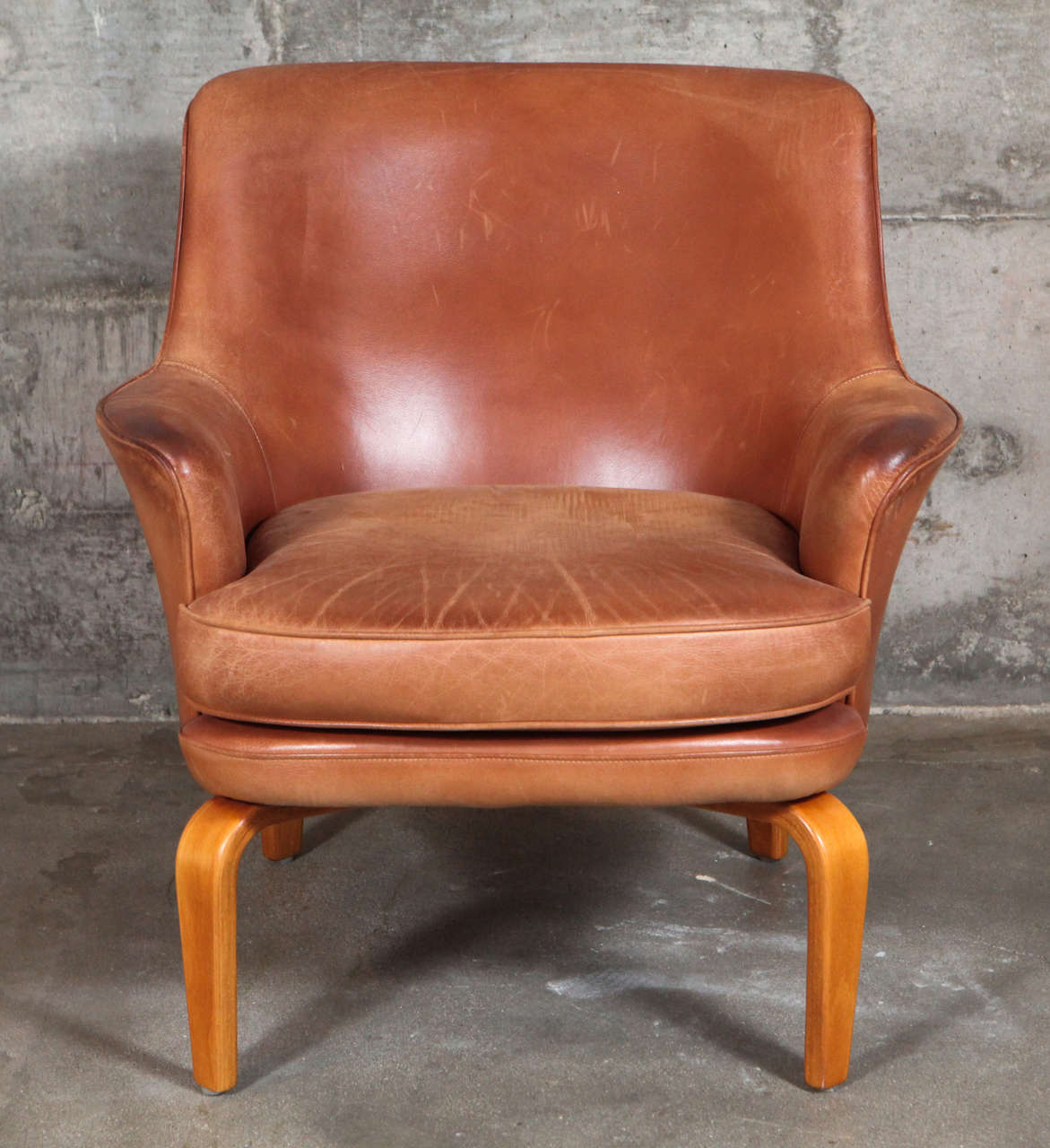 Swedish Pair of Arne Norell 'Pilot' Lounge Chairs