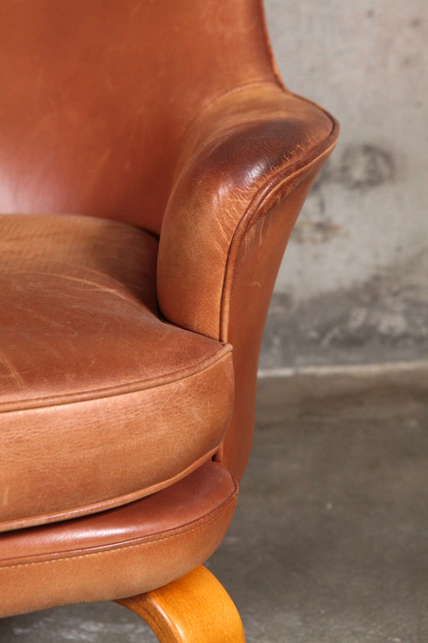 Pair of Arne Norell 'Pilot' Lounge Chairs In Fair Condition In Los Angeles, CA