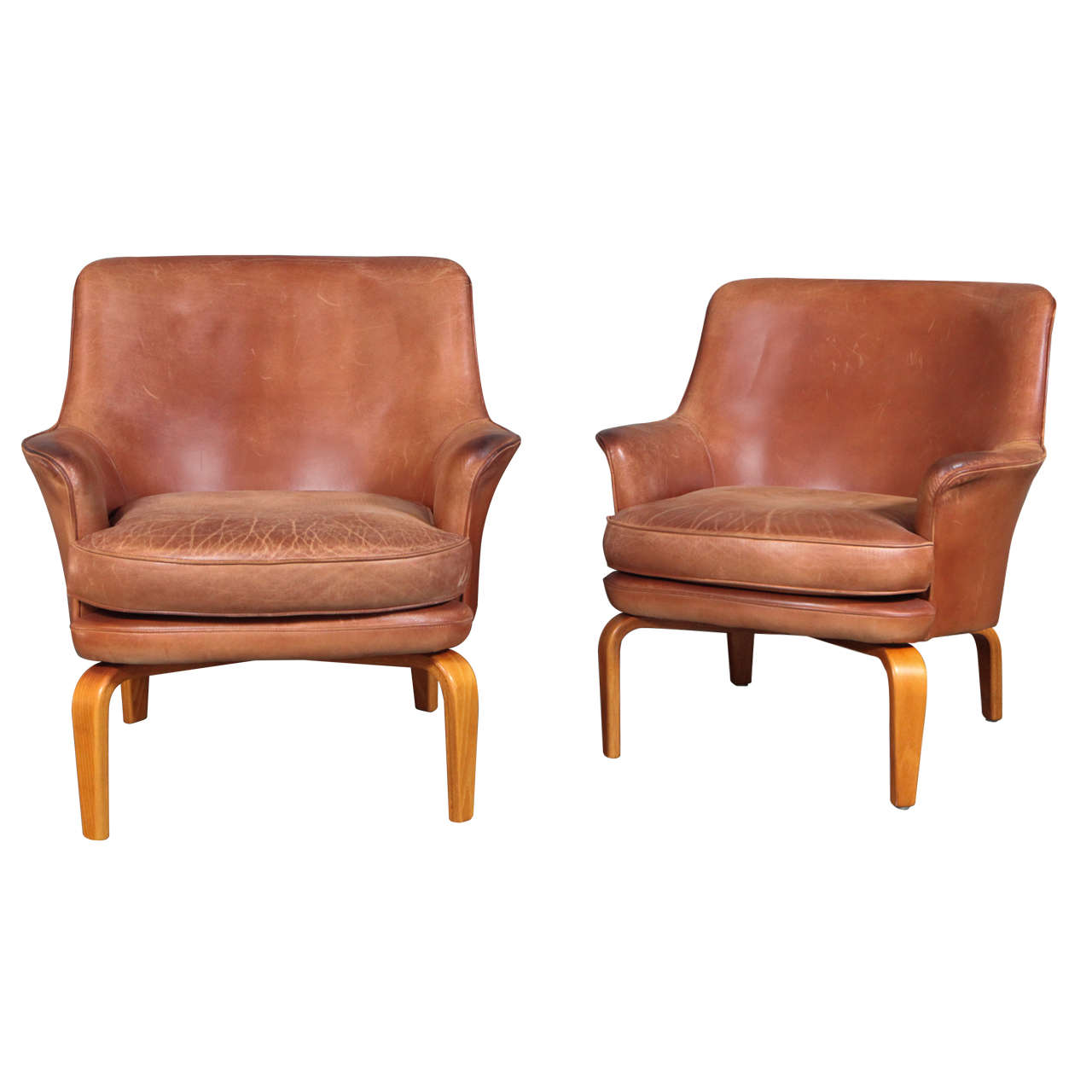 Pair of Arne Norell 'Pilot' Lounge Chairs