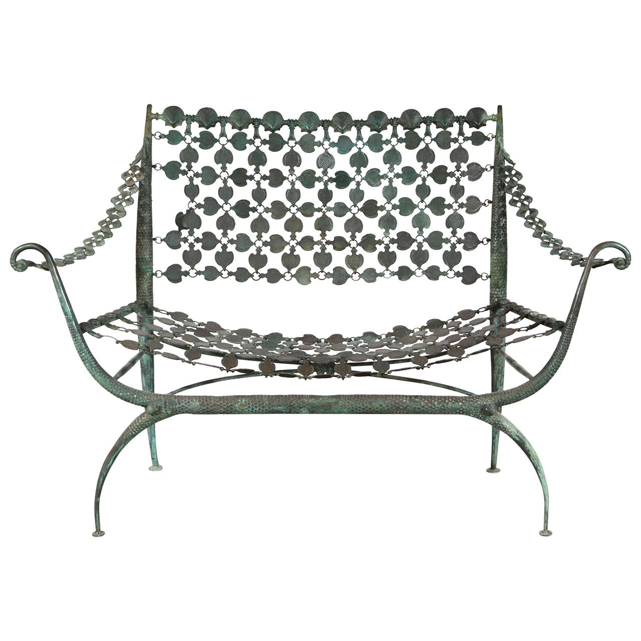 Bronze Settee in the Style of Rateau