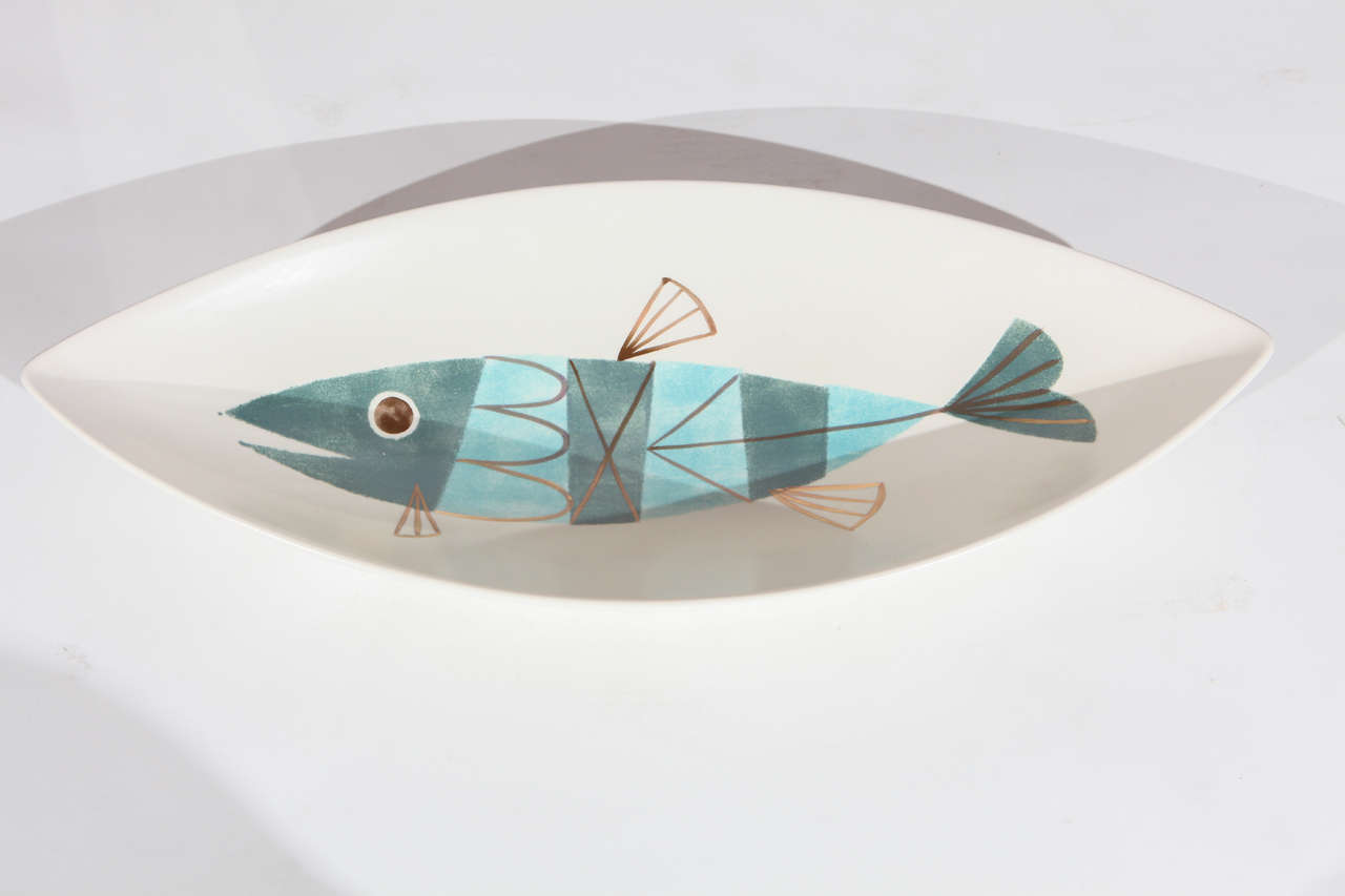 Large Metlox Fish Centerpiece Bowl For Sale At 1stdibs
