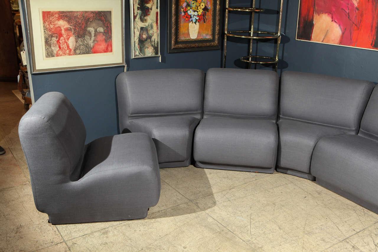 Semi Circular Modular Sofa By Knoll For Sale At 1stdibs