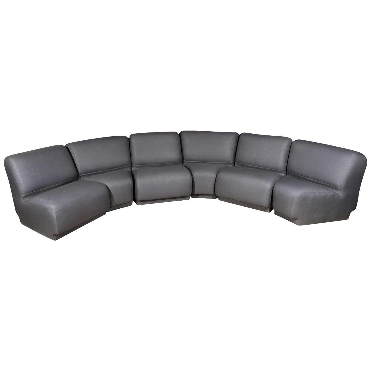 Semi Circular Modular Sofa By Knoll At 1stdibs