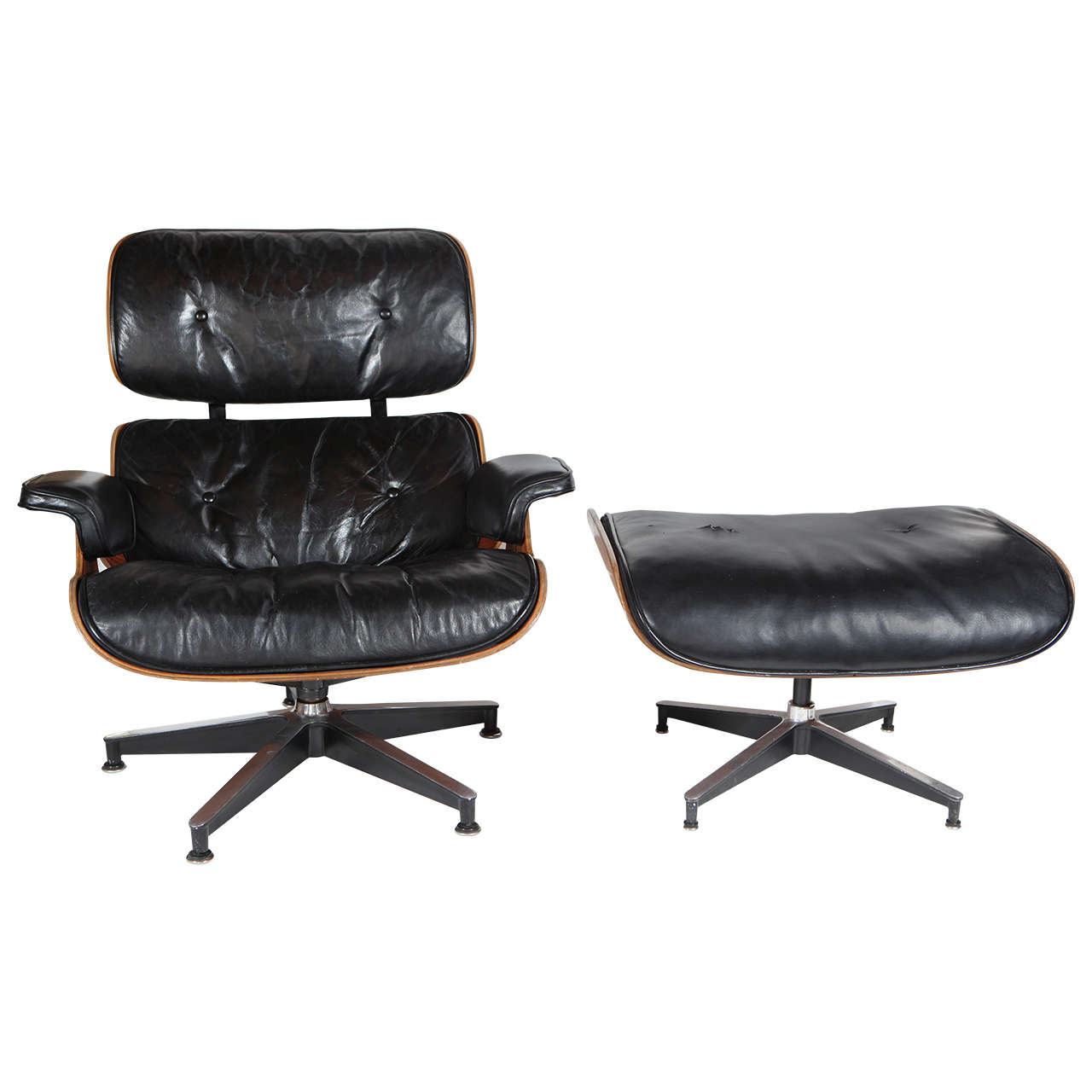 Rare early original eames lounge 670 671 armchair and ottoman at 1stdibs - Fauteuil eames original ...