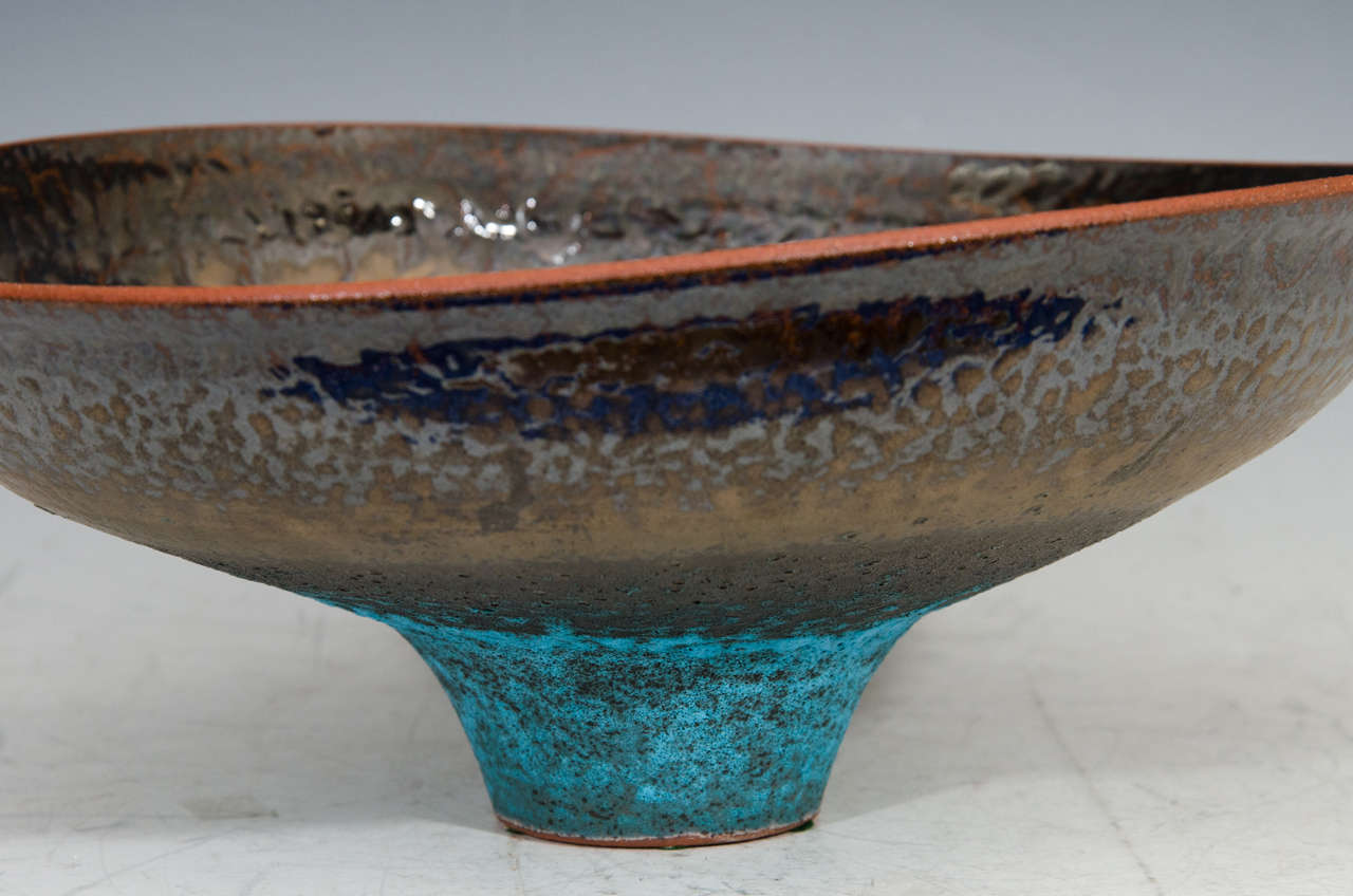 Monumental Studio Pottery Bowl by American Artist Jeremy Briddell In Good Condition In New York, NY
