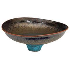 Monumental Studio Pottery Bowl by American Artist Jeremy Briddell