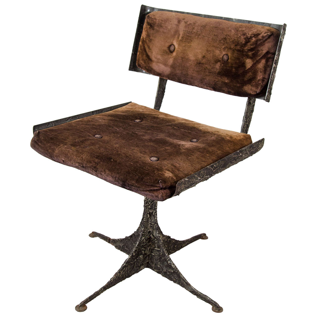 Superior Brutalist Rare Sculpted Paul Evans Chair For Sale