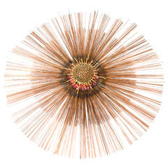 Midcentury Sunburst Wall Sculpture Inspired by Curtis Jere