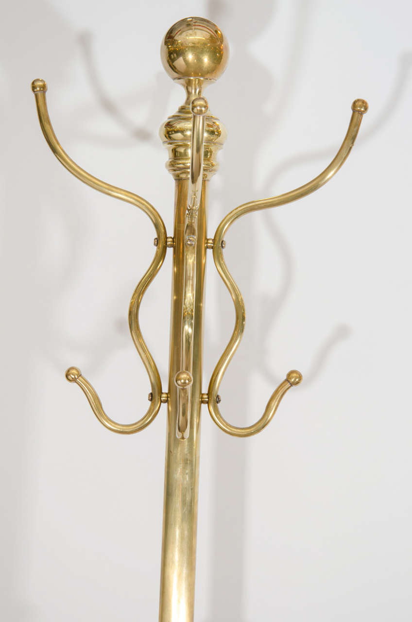 Victorian Ornate Solid Brass Coat Rack At 1stdibs