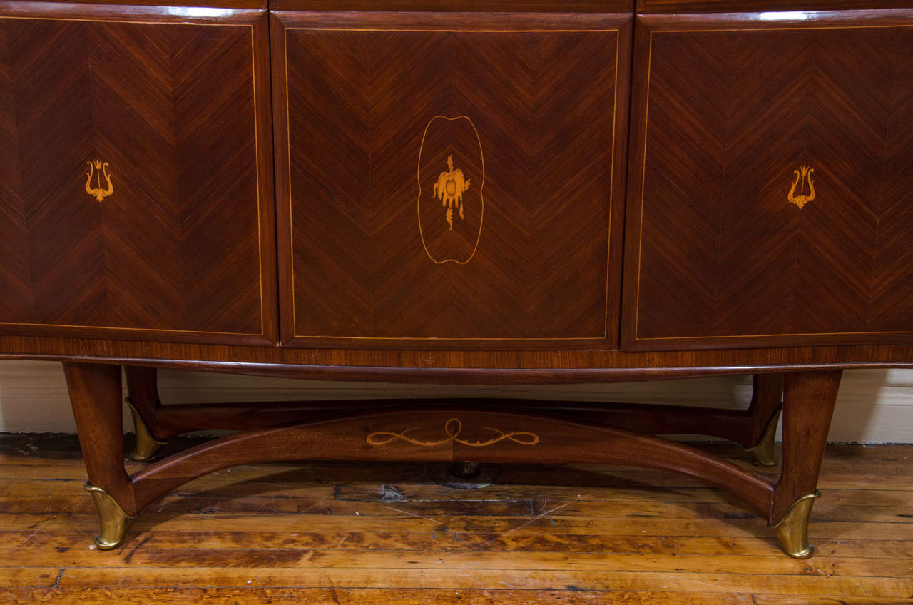 Italian Bar Cabinet Attributed to Architect and Designer Paolo Buffa For Sale