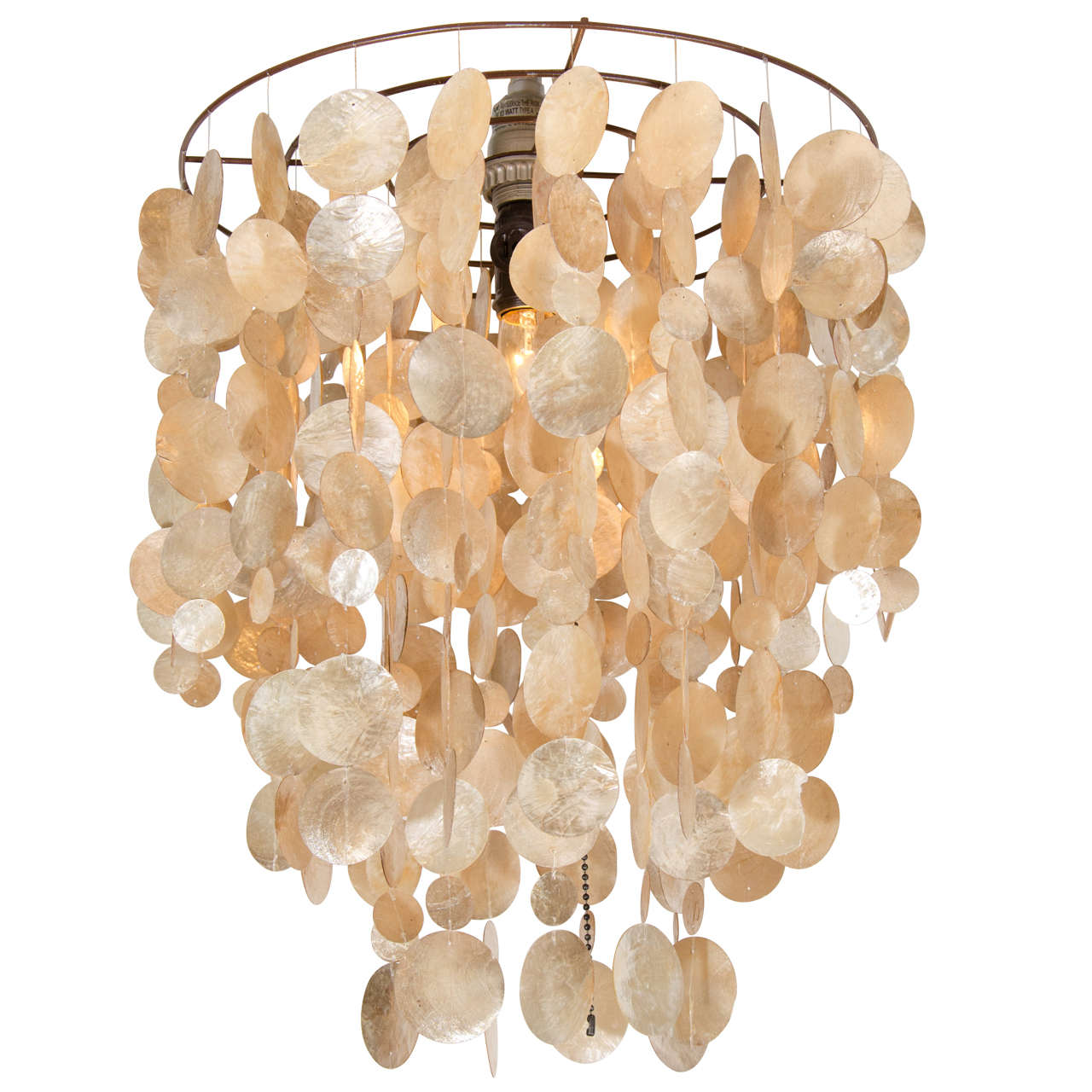 20th Century Capiz Shell Chandelier For Sale At 1stdibs
