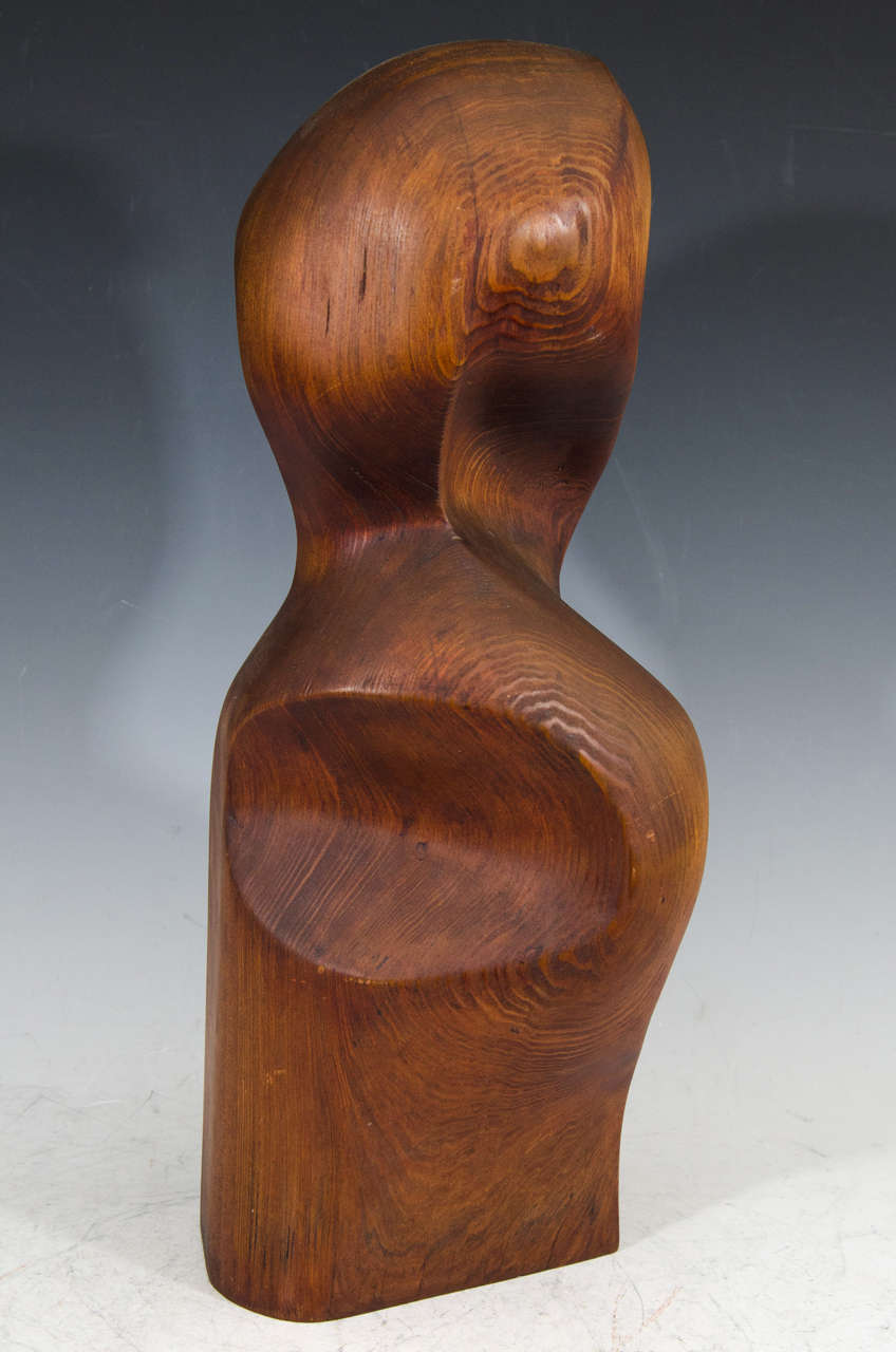 Carved Wood Sculpture of a Female Figure by Artist Jean Sampson For ... for brancusi wood sculpture  45gtk