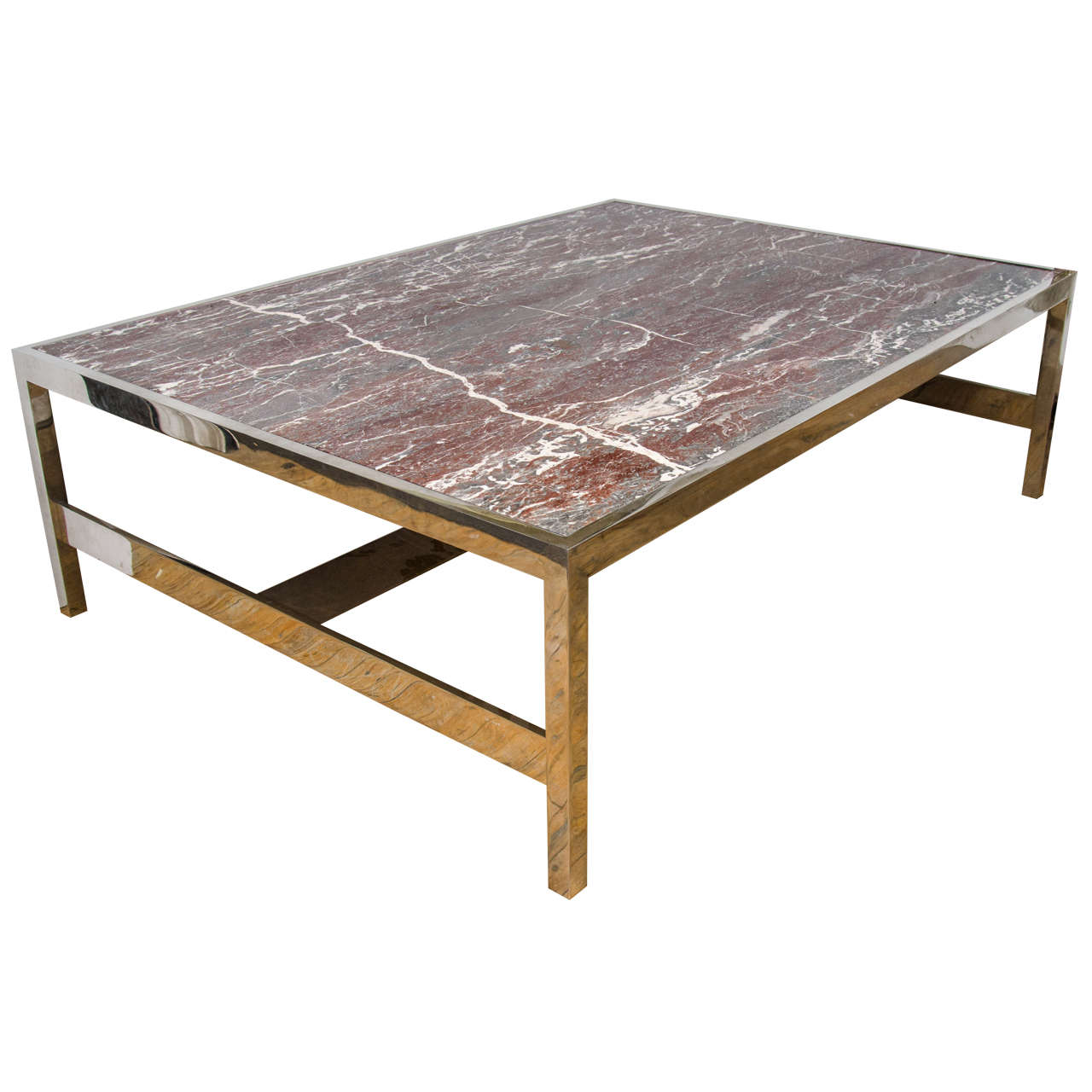 Marble Coffee Table For Sale Singapore: Solid Marble Coffee And Cocktail Table On Chrome Base At