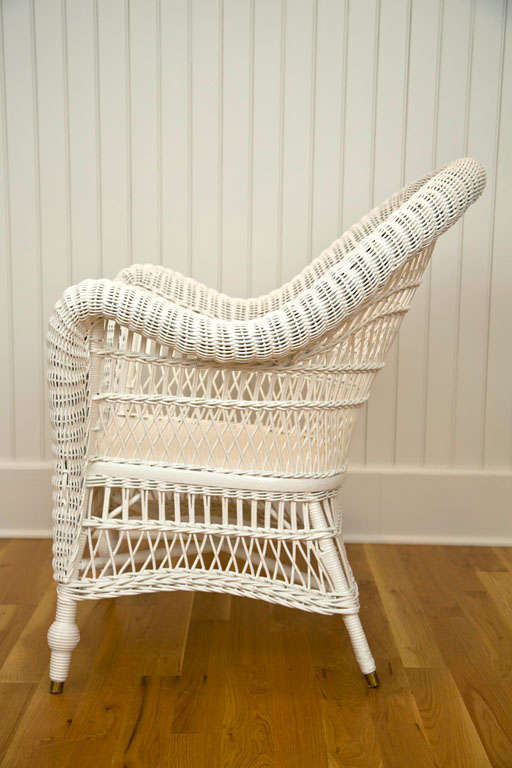 Antique Victorian Wicker Arm Chair 6