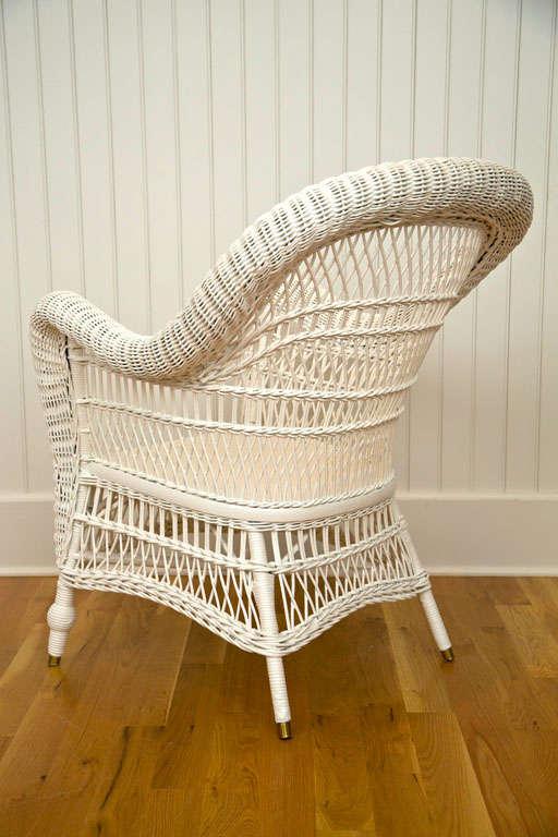 Antique Victorian Wicker Arm Chair 7
