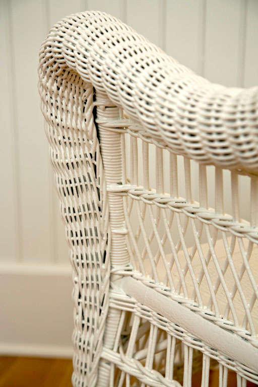 Antique Victorian Wicker Arm Chair 8