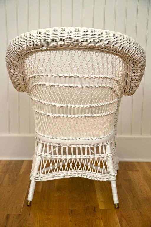 Antique Victorian Wicker Arm Chair 9