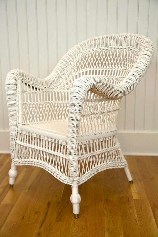 Antique Victorian Wicker Arm Chair 2