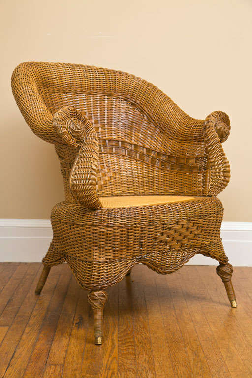 victorian wicker chair at 1stdibs