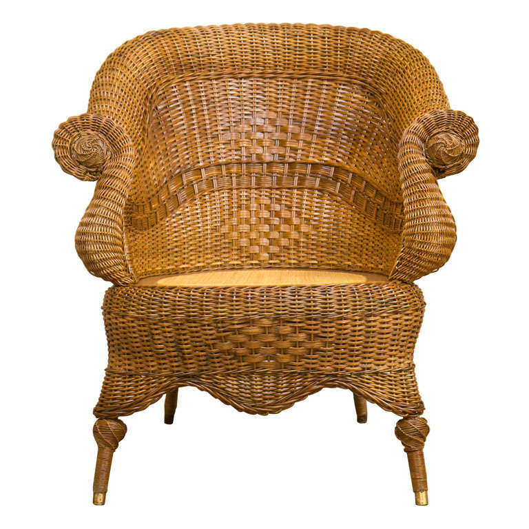 Victorian Wicker Chair 1