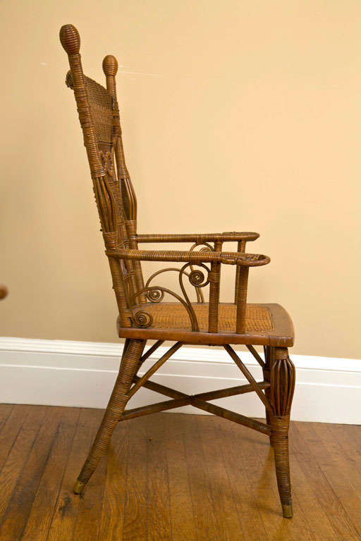 antique victorian wicker parlor set for sale at 1stdibs