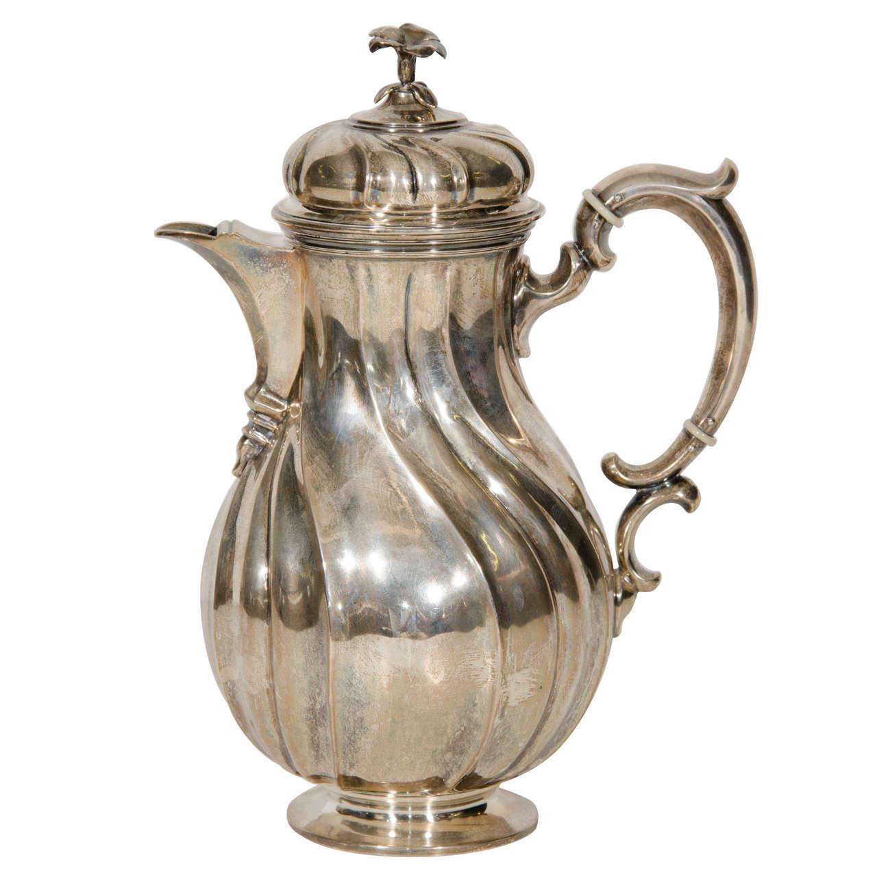 Silvered Metal Coffee Pot