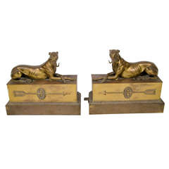 Empire Style Bronze Chenets