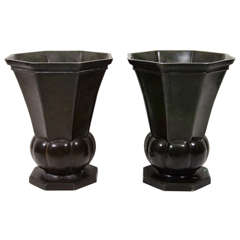 Just Andersen Bronze Vases