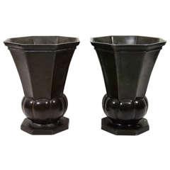Just Andersen Bronze Vases