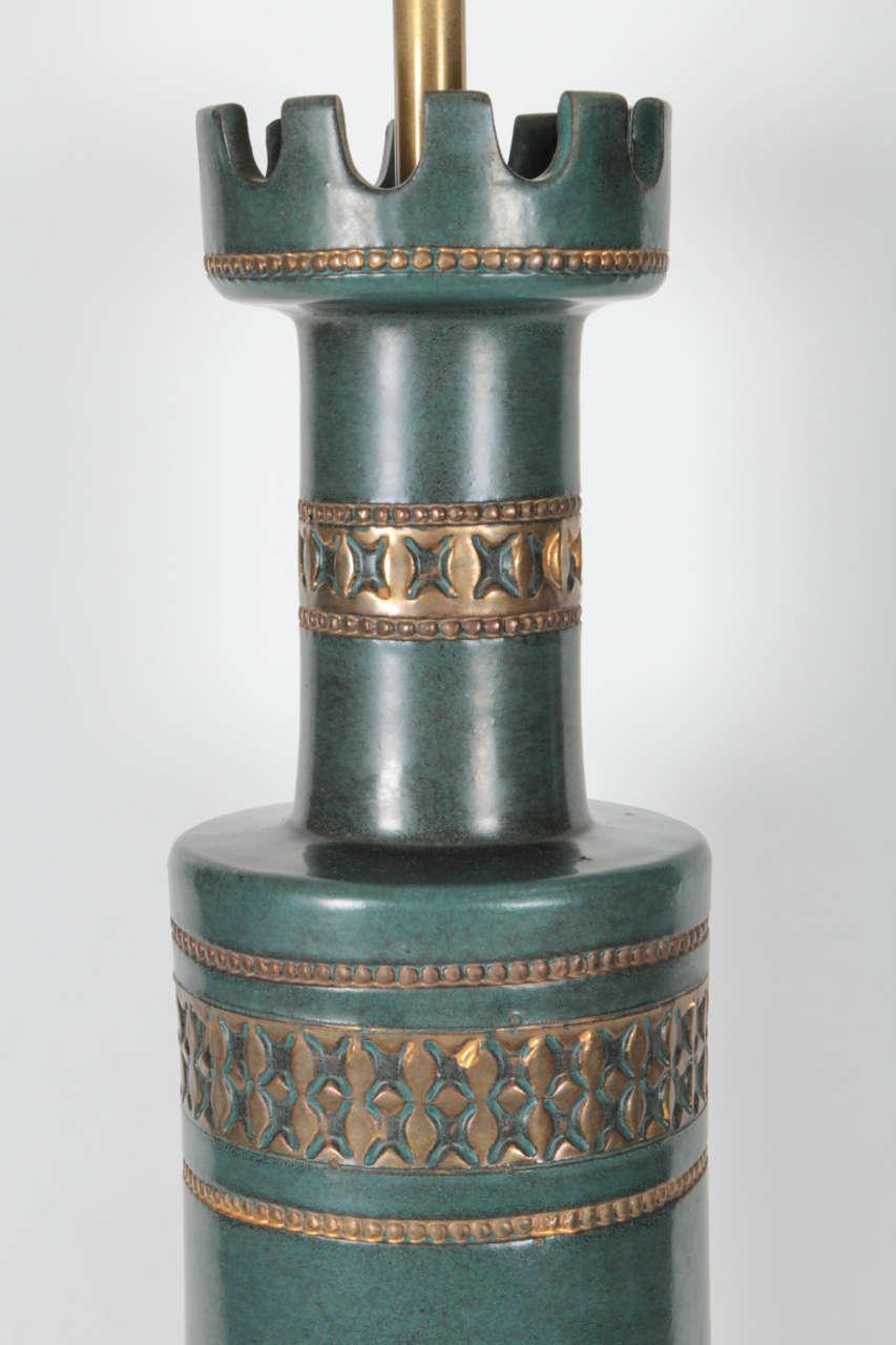 American Marbro Jade Green Ceramic Lamps For Sale