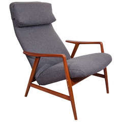 Mid Century Reclining Lounge Chair by Dux