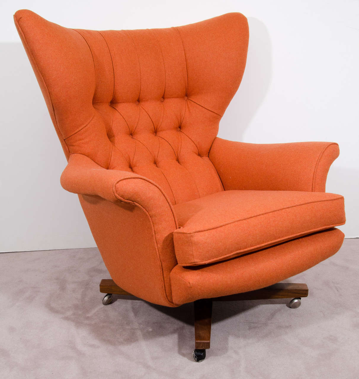 Mid Century Wing Back Lounge Chair by Paul Conti at 1stdibs