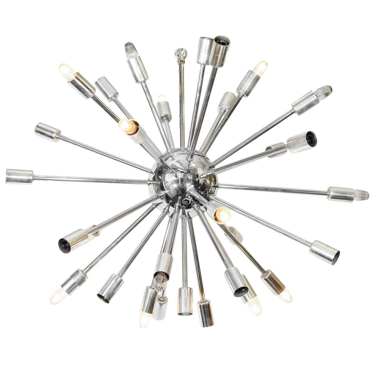 Midcentury chrome sputnik chandelier at 1stdibs for Sputnik chandelier