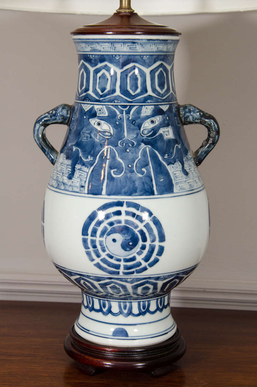 this chinese blue and white porcelain lamp is no longer available. Black Bedroom Furniture Sets. Home Design Ideas