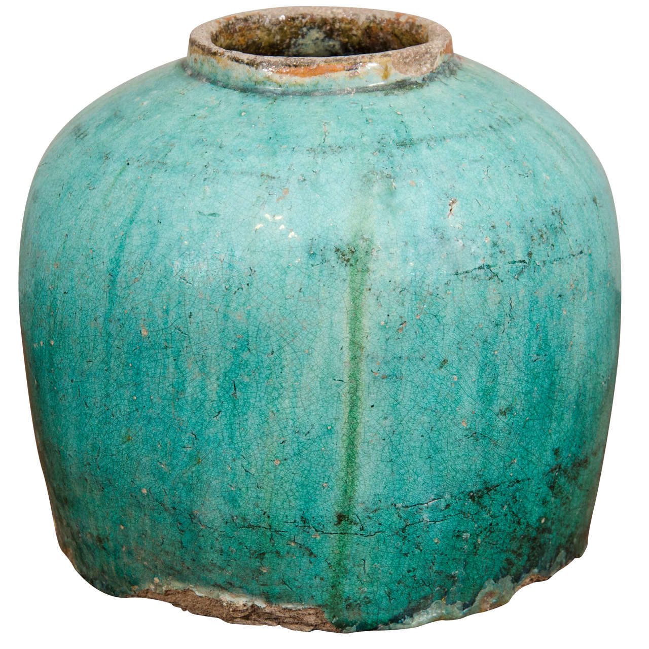 19th Century Chinese Earthenware Jar For Sale