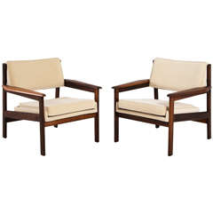 "Pair of ""Drummond"" Lounge Chairs by Sergio Rodrigues for OCA, 1959"