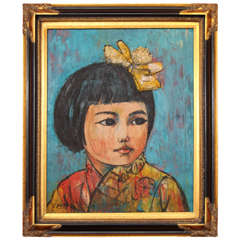 Painting, Young Girl, Oil